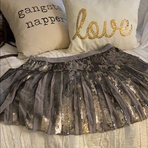 NWOT banana republic sequin and chiffon skirt
